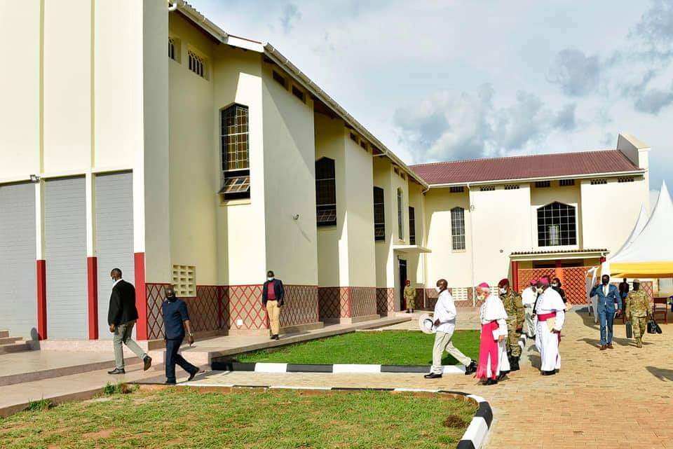 president Museveni opening cathedral